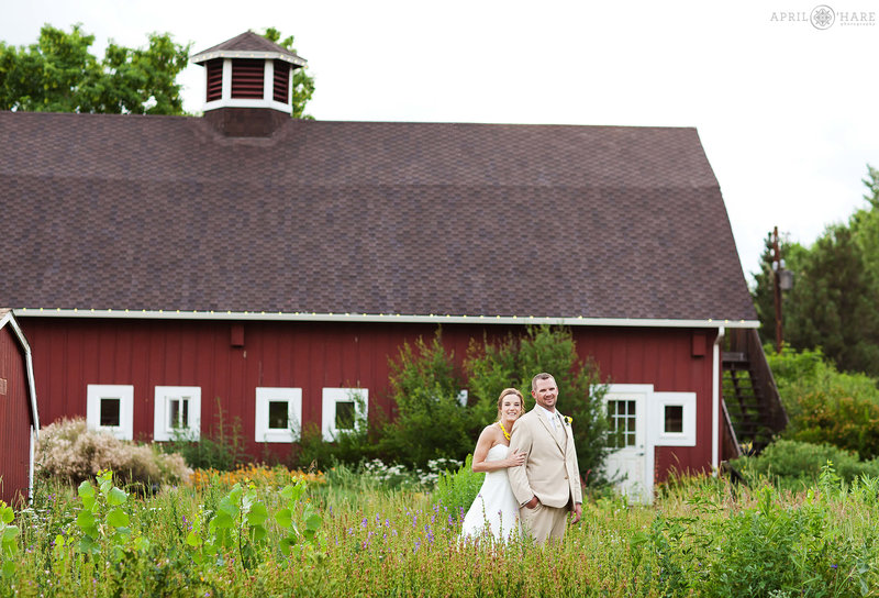 Beautiful old red barn wedding venue in Denver Chatfield Farms