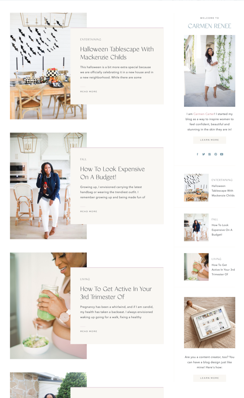 With Grace and Gold - Custom Brand Logo and Showit Website Design Web Design for Creative Entrepreneurs andn Small Business Owners - Carmen Renee Blog - 2