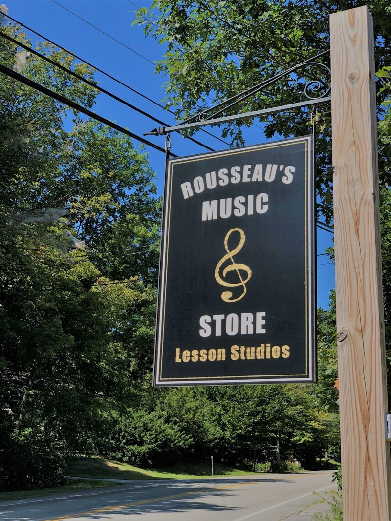 Rousseau's Music Store Jaffrey NH Lessons and Products