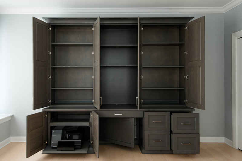 Custom Cabinets Installation Home Office Remodel