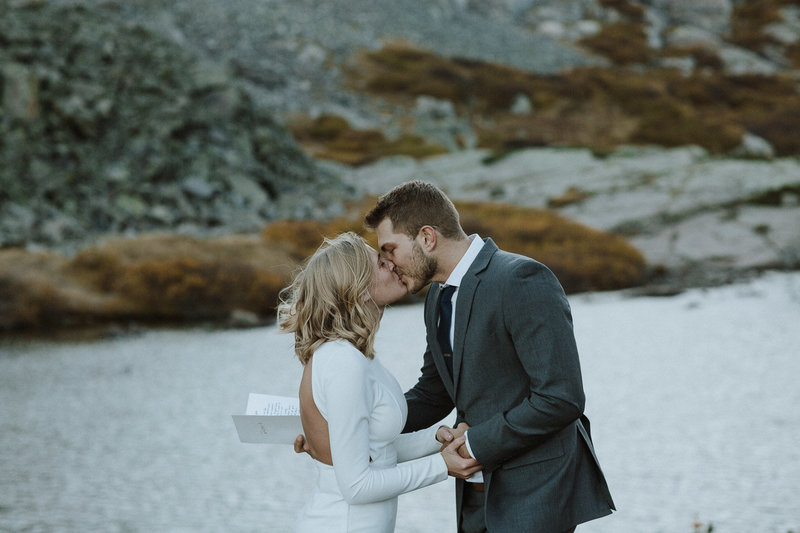 Photo by Root and Blossom Photography of a hiking elopement in Colorado