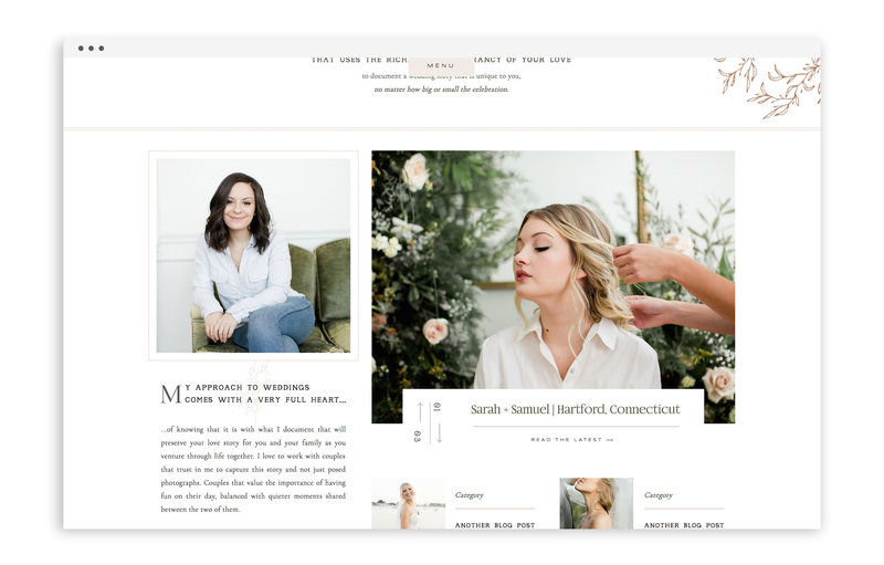 Melanie Ruth Photography - Custom Showit Web Design by With Grace and Gold - Photo - 2