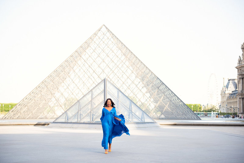 Fun filled Paris portrait photoshoot with Shantha Delaunay