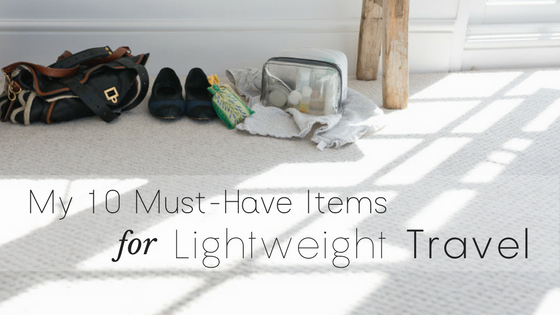 PopUp _ My 10 Must-Have Items For Lightweight Travel