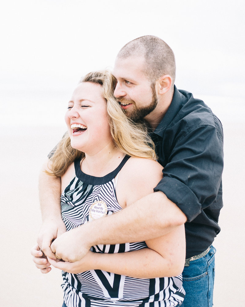 Daytona Beach Engagement Photo  of Deana and Alex by Sidney Baker-Green