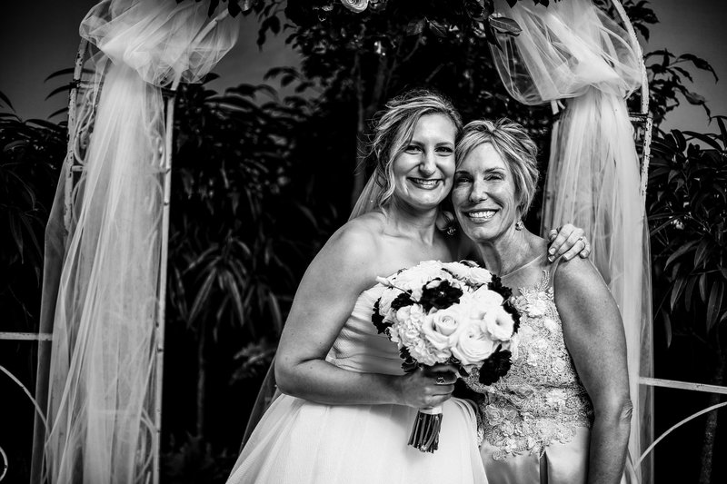 Bride and her mom at Sheraton Erie Bayfront Hotel