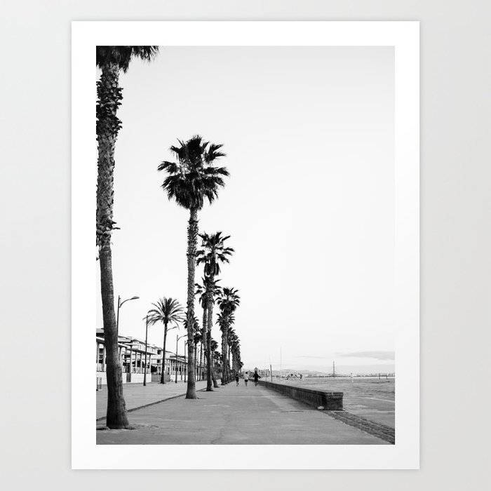 playa-de-valencia-black-and-white-photograph-of-the-boulevard-beach-travel-art-prints