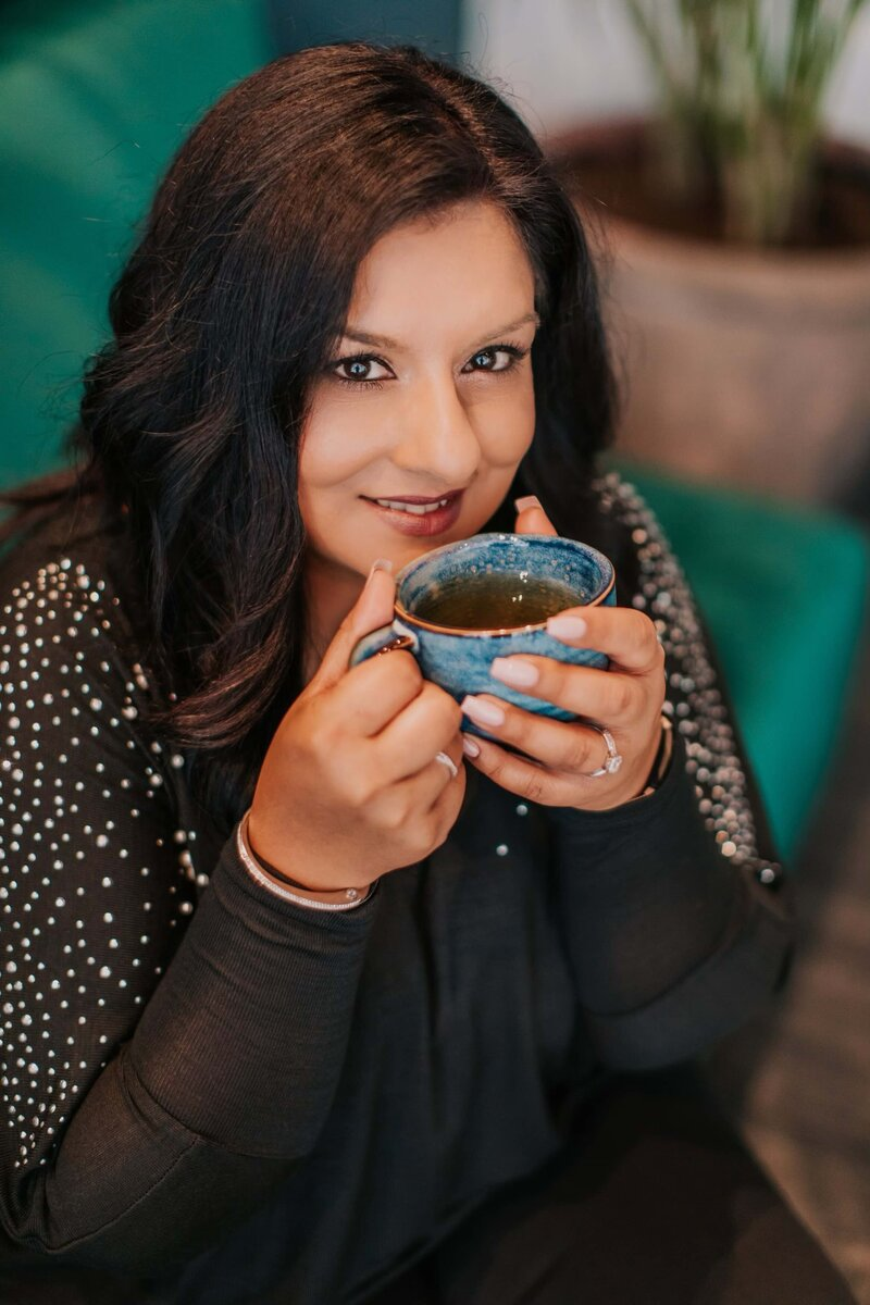 Puja McClymont Candid Coffee