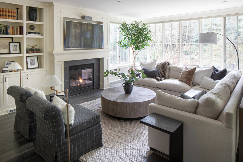 Mercer Island Living room by Seattle Area interior designer K. Peterson design