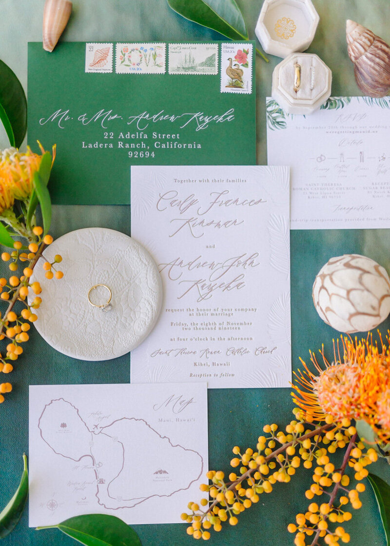 pirouettepaper.com | Wedding Stationery, Signage and Invitations | Pirouette Paper Company | Sugar Beach Resort in Maui, Hawaii | Maui Hawaii Wedding 04