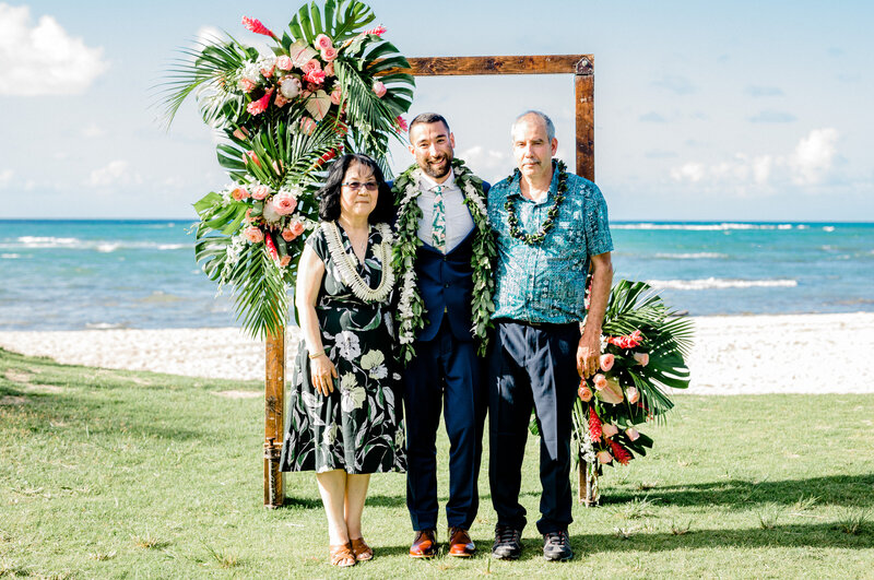 family formals at loulu palm in hawaii
