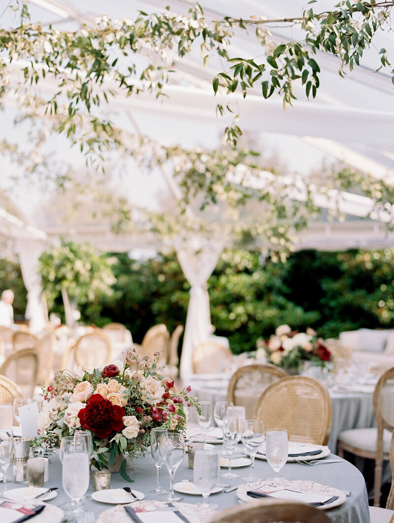 Romantic and Modern Wedding Reception with Clear Tent