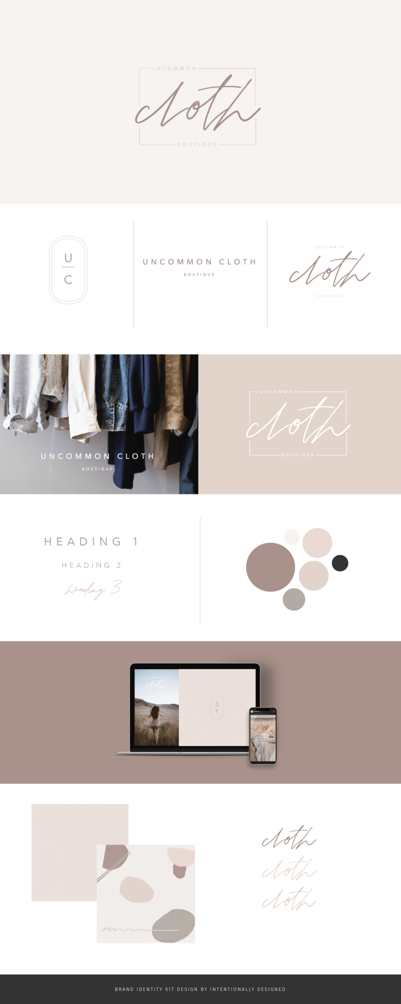 Cloth brand identity kit