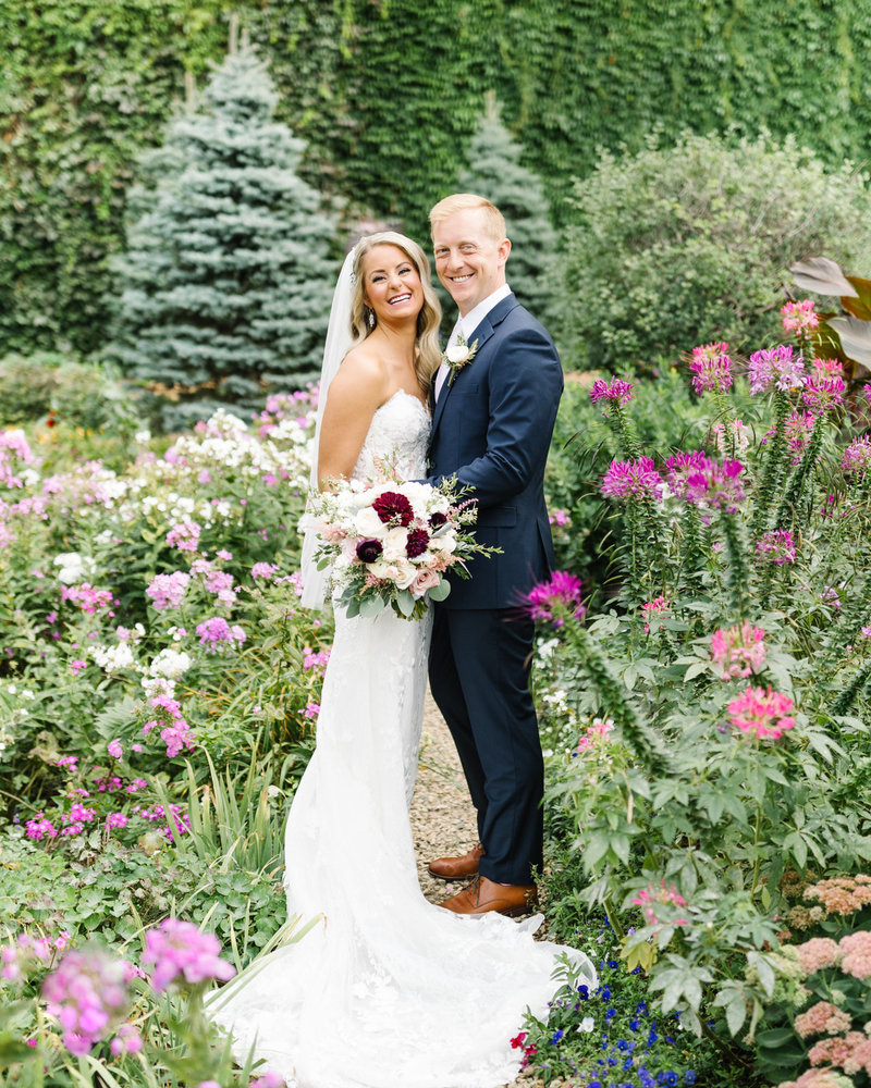 The-Saint-Paul-Hotel-Wedding-Flower-Garden-Bride-and-Groom