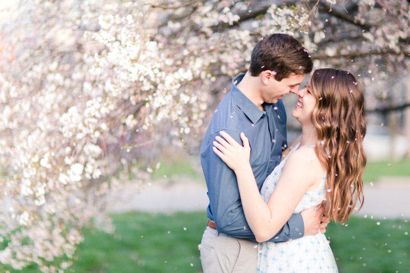 Spring Goodale Park engagement
