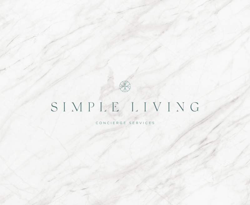 Primary logo design for Simple Living, a concierge service based out of New Orleans.