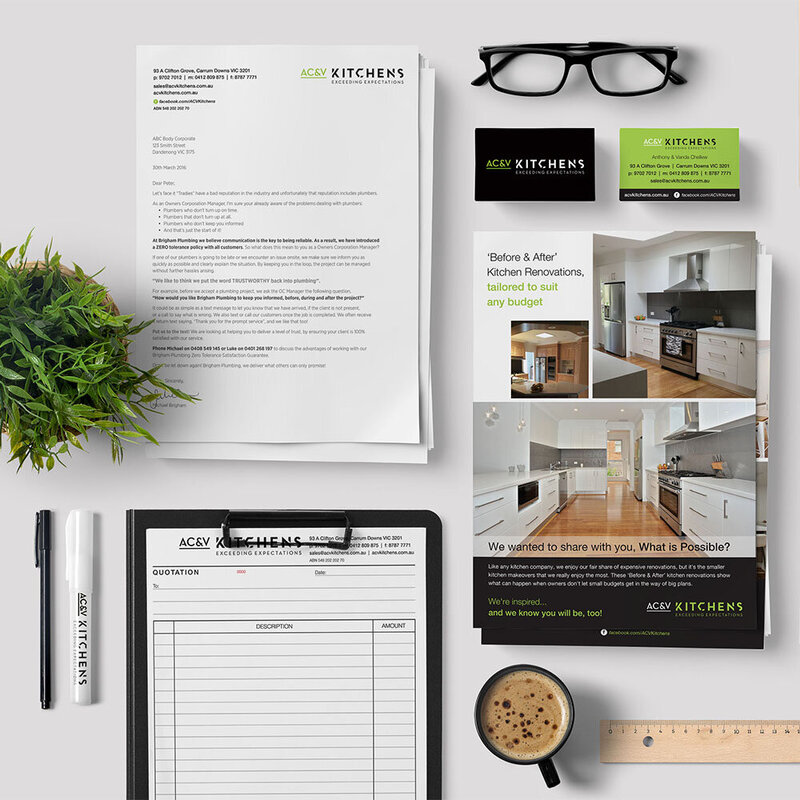 AC&V Kitchens Branding by The Brand Advisory