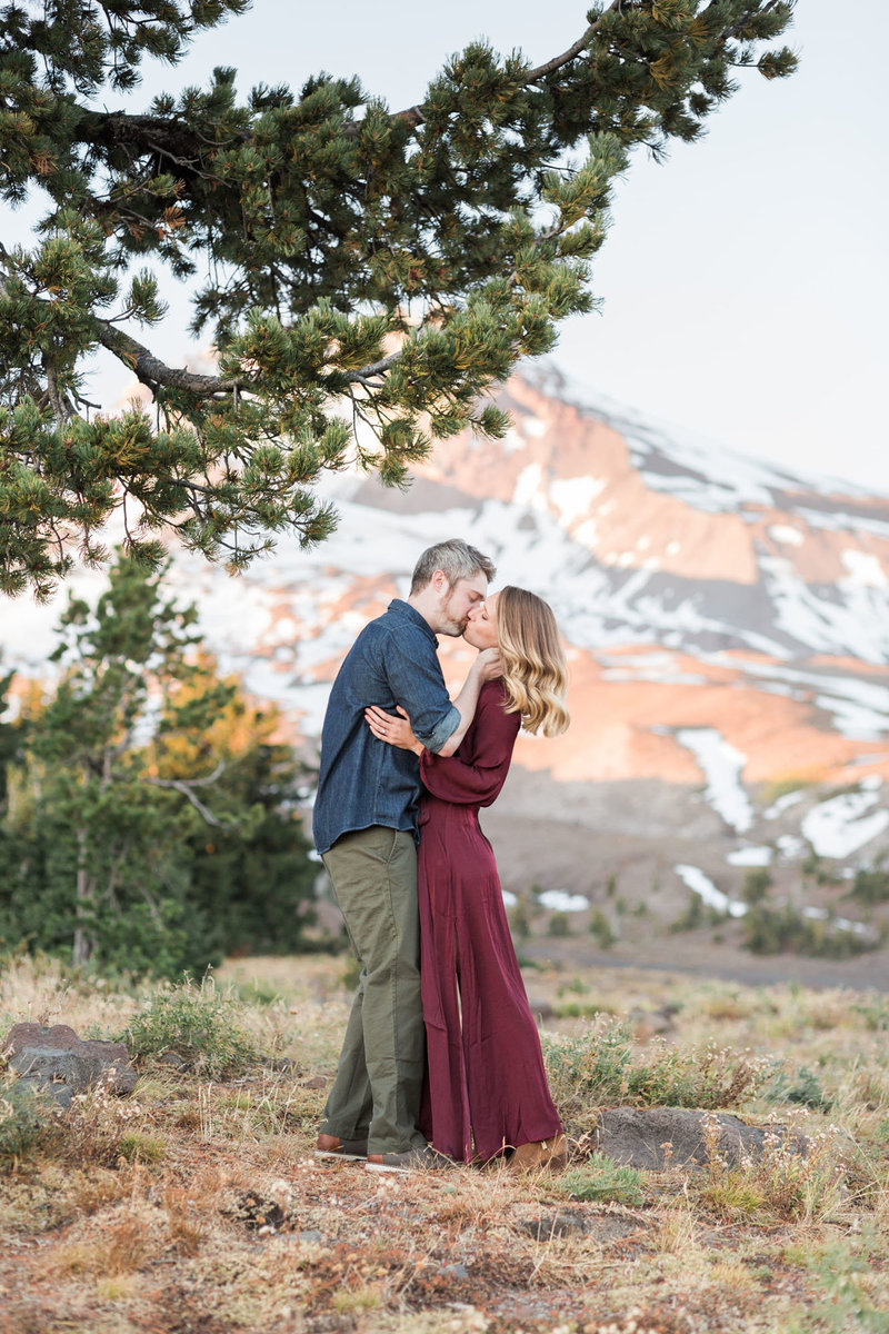 Romantic engagement photographs on Mt. Hood