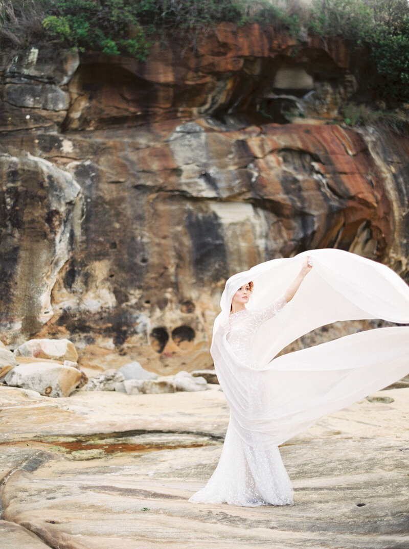 Sydney Fine Art Film Wedding Photographer Sheri McMahon - Sydney NSW Australia Beach Wedding Inspiration-00047