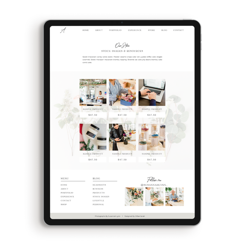 adeline-showit-store-template