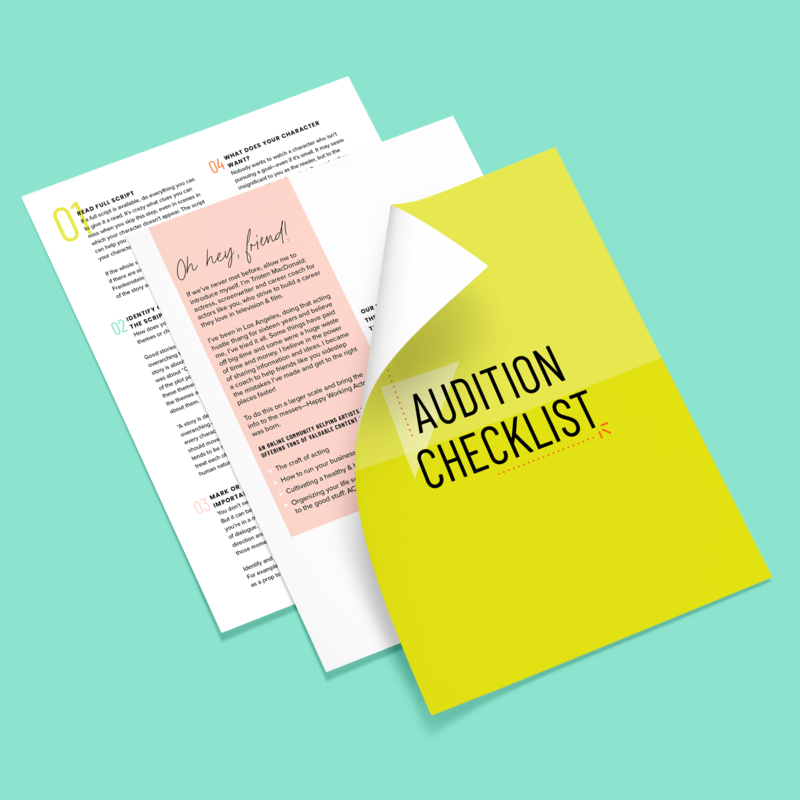 Nicole A Yang Design Happy Actor Audition Checklist PDF