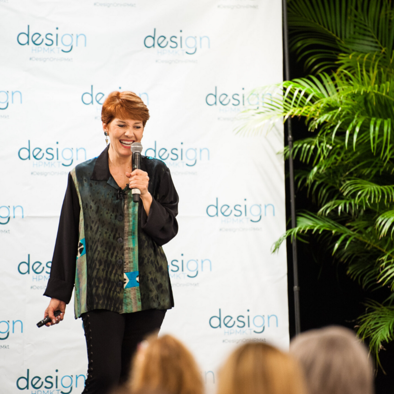 Melissa Galt speaks as a keynote speaker about how to find success in interior design