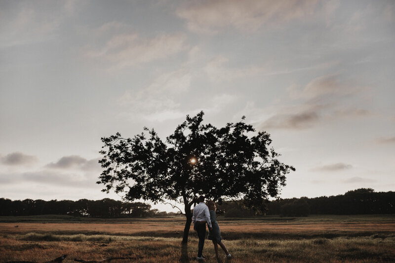 loveshoot in de amsterdamse waterleiding duinen