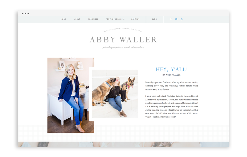 With Grace and Gold - Abby Waller Photography - Logo Design, Stationery Design, and Web Design for Photographers, Creative Women in Business - Photo - 15