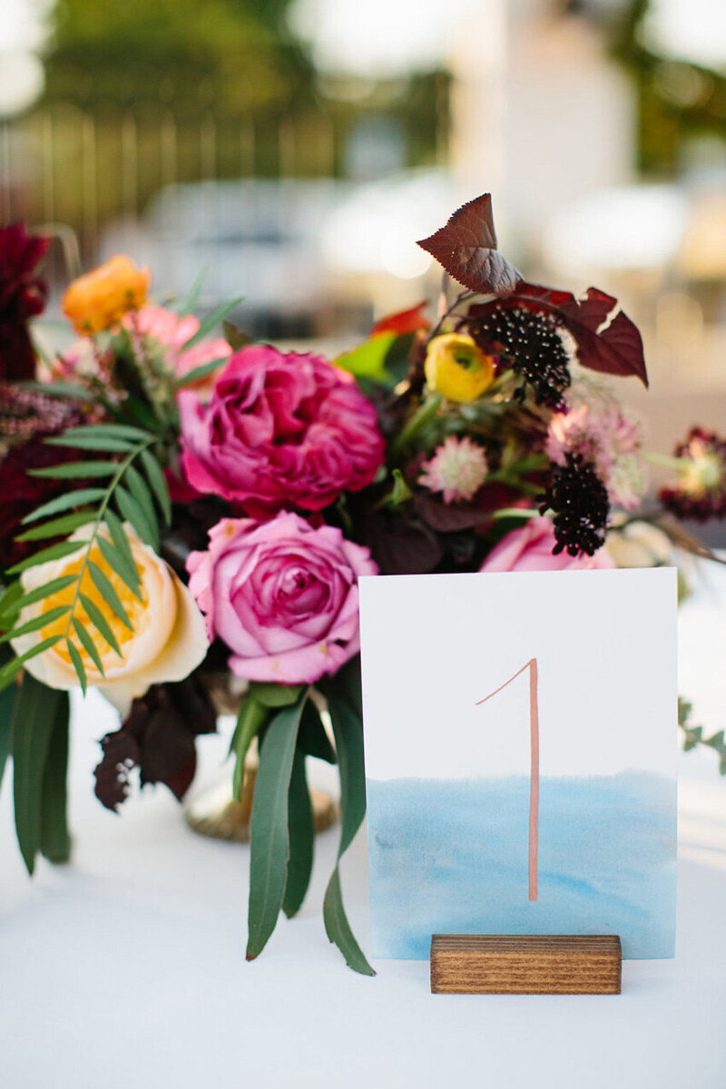 pirouettepaper.com | Wedding Stationery, Signage and Invitations | Pirouette Paper Company | Table Numbers 93