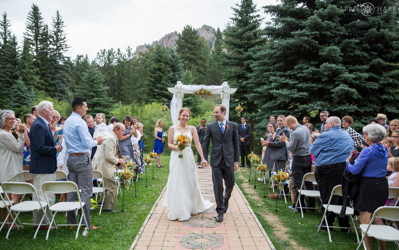 Outdoor Colorado Mountain Wedding in a Meadow near Staunton State Park