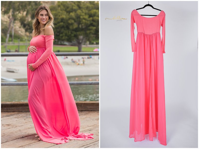 5e57c5fa5c8 The stunning Spirea Maternity like Dress is definitely our bestseller maternity  gown. A model with a slim fit jersey gown underneath.