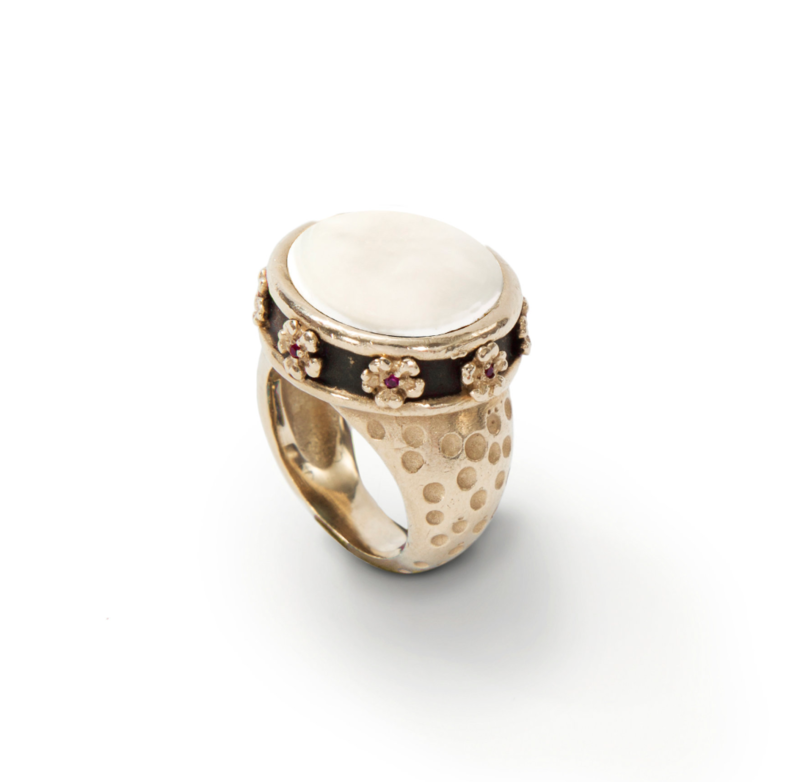 Pili Restrepo NOORA RING - COIN PEARL
