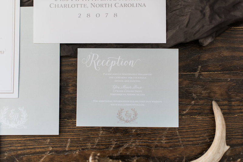 Brooks Organic Greenery Wedding Invitation
