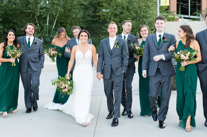 bridal party at lambeau field