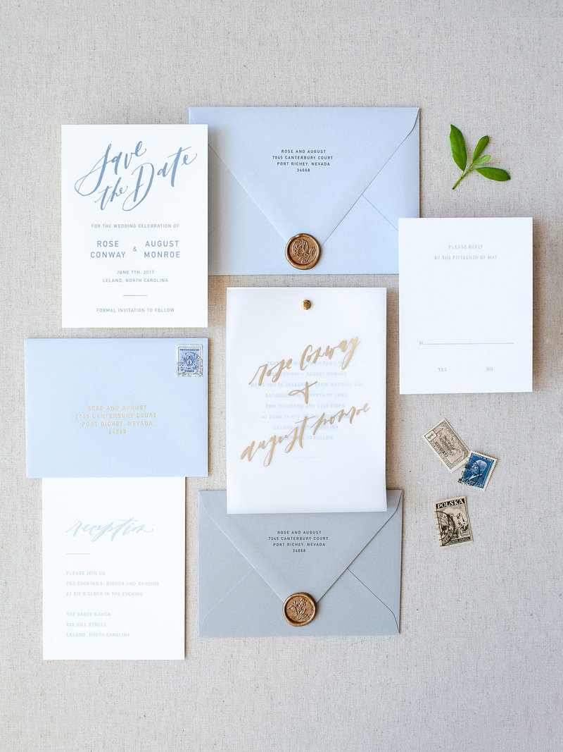 Modern Affair Semi-Custom Invitations