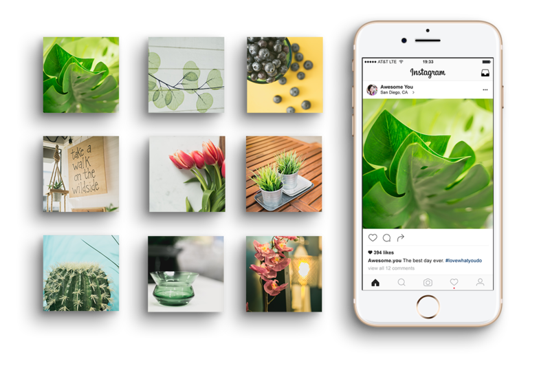 Free 9 image grid for Instagram