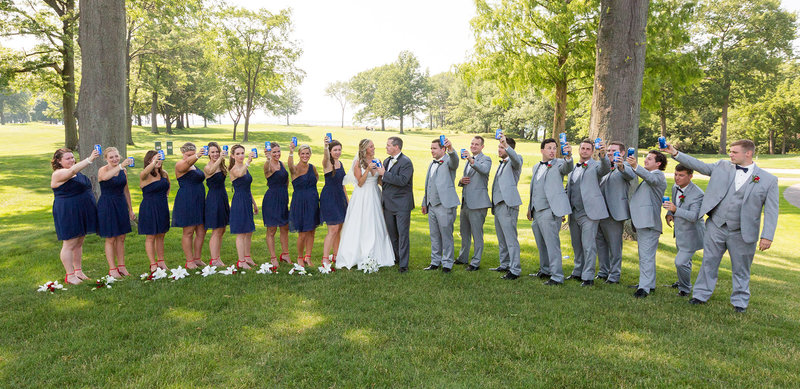 Bridal party at Lawrence Park golf club