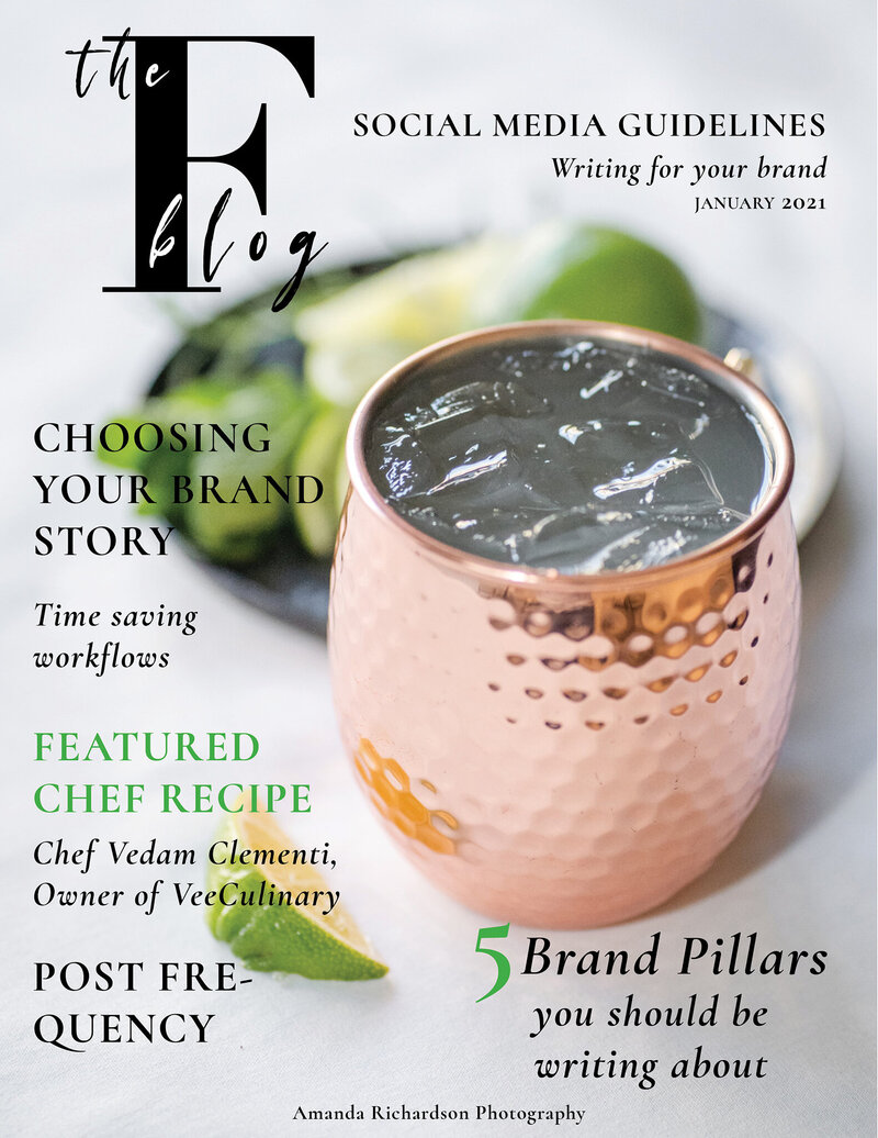 cover of free magazine full of branding and marketing tips for small business owners