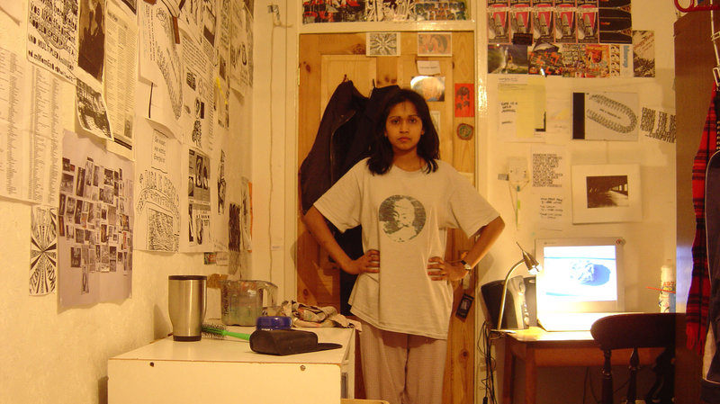 me in my room many years ago surrounded by art