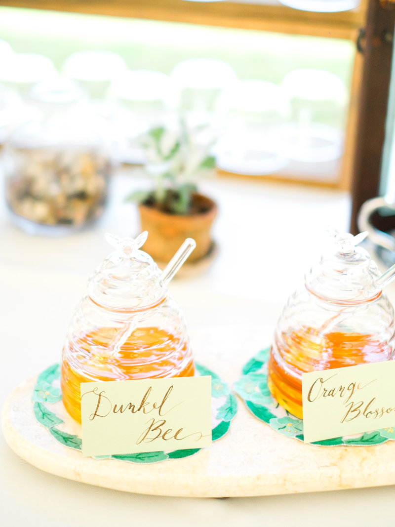 homemade honey wedding reception
