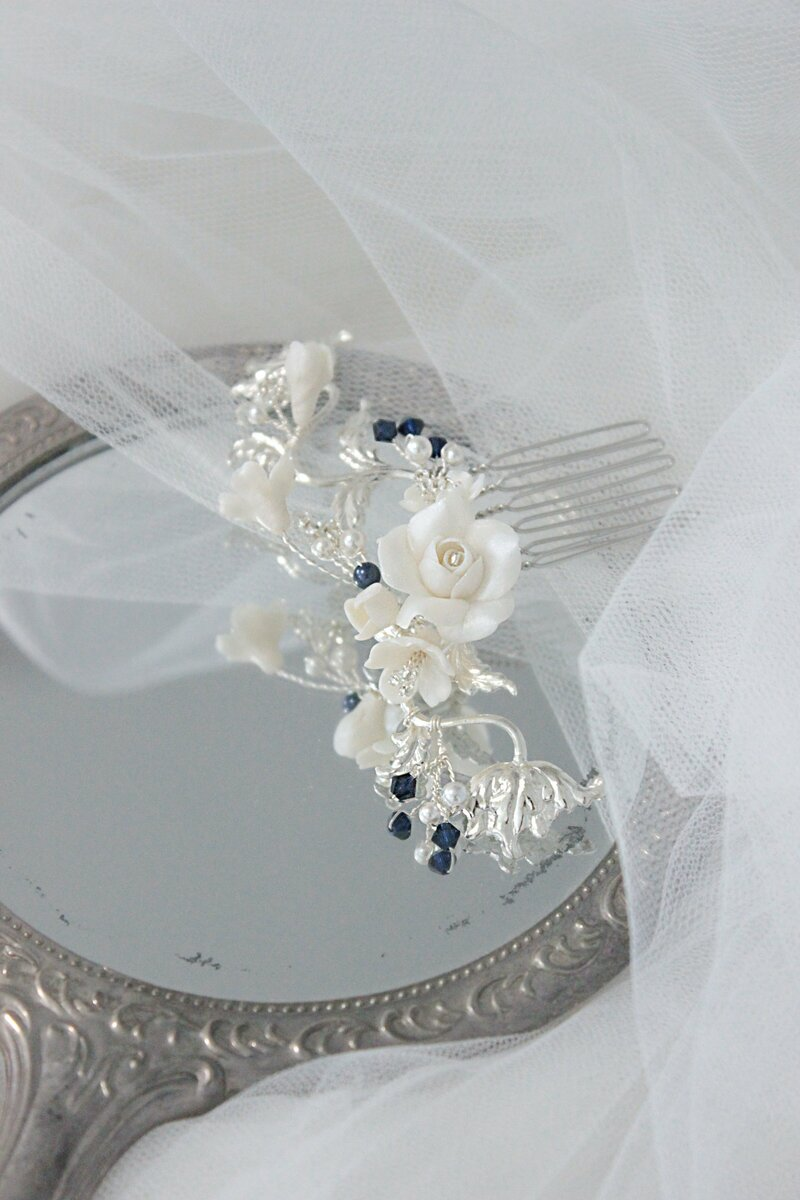 wedding comb perfect for something blue