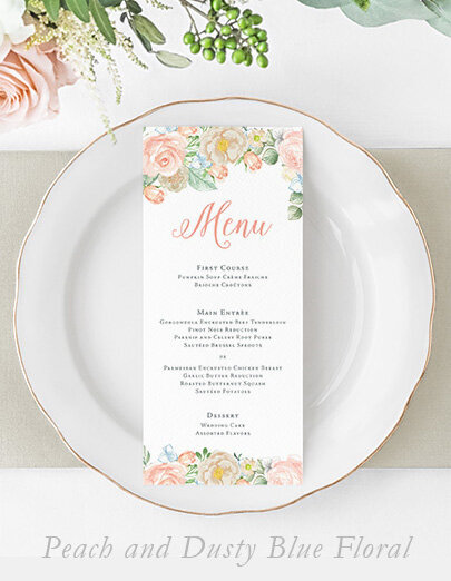 peach-dusty-blue-floral-wedding-menu