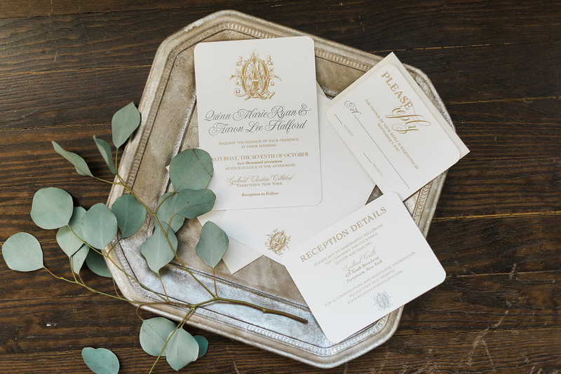 Monogram Script Wedding Invitations and Day Of Paper Goods