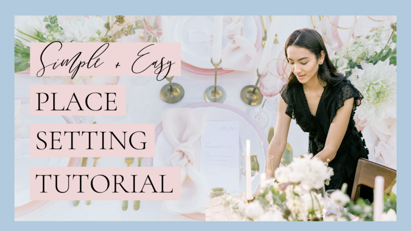 Place Setting Tutorial for Beginners Thumbnail Not JESS A Planner