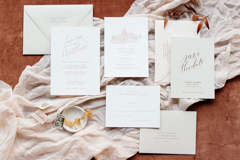 Simple Elegance Semi-Custom 6 Piece  Invitation Suite