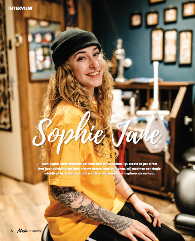 Maja magazine - Interview Sophie Jane