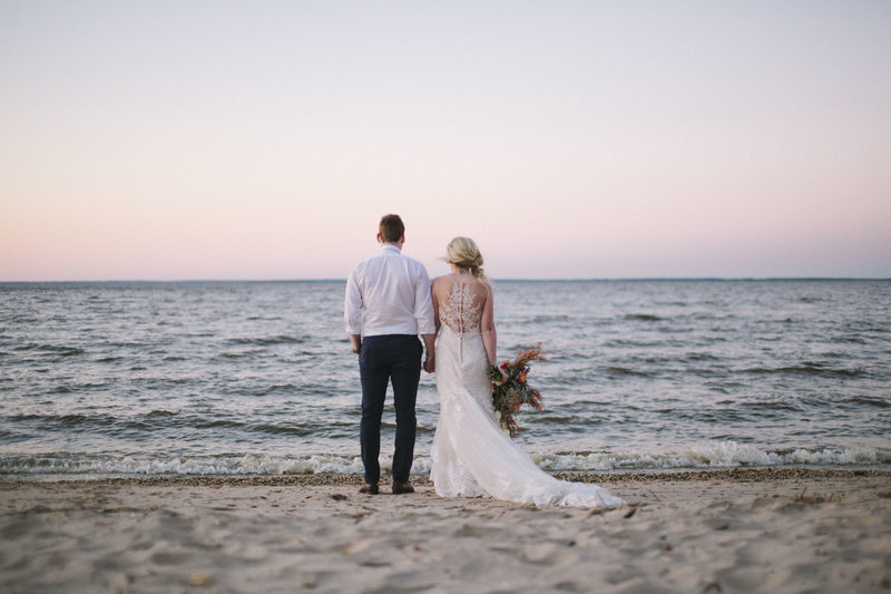 westmoreland beach wedding