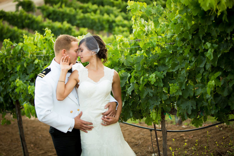 Temecula Winery wedding photos couple in vineyard