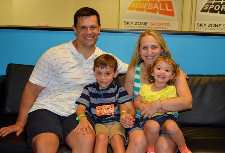 michael moser and his family before he was diagnosed with DIPG