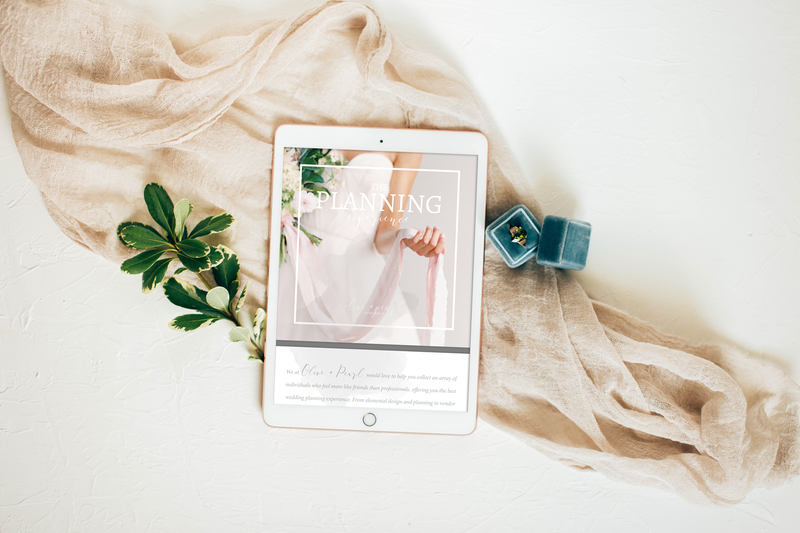 The Olivine Collective || 8-Page digital marketing template designed with the wedding planner specifically in mind